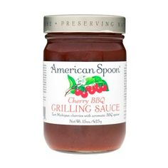 American Spoon cherry BBQ grilling sauce. Chickens are even happier cooked this way.