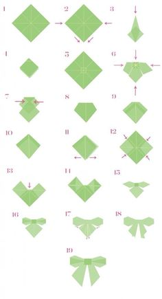 Origami Bow Tutorial!