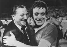 Bob Paisley and Ian Callaghan celebrate the club's first European Cup win