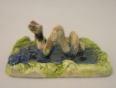 Palissy Majolica Snake Paperweight
