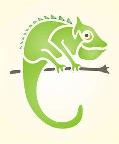 Maler Wandschablone Malschablone Wandschablonen Schablone Chameleon klein | eBay