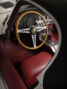 1961 #Jaguar E Type Interior #ClassicCar #CoolCars QuirkyRides.com