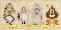Counted cross stitch patterns : PDF Wizard of Oz Part 1 Brooke's Books fairy tale instant download e-pattern
