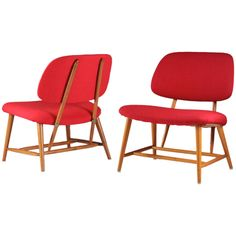 """""""TeVe"""" Chairs by Alf Svensson for Ljungs Industrier, 1953 1"""