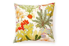 One Kings Lane - Open-Air Refresh - Sea Life 20x20 Outdoor Pillow, Multi