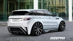 Body Kit Evoque by Dmitry Sergeev on ArtStation. Range Rover Evoque, Range Rover Sport, Range Rovers, Carros Audi, Lexus Suv, Range Rover Supercharged, Mercedes Truck, Lux Cars, Rims For Cars