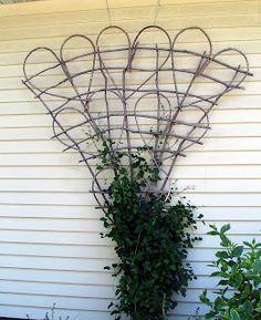 Willow heart trellis