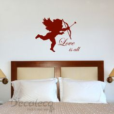 cupid u2013 love is all decals for wallswall