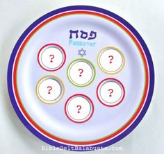 Where the seder plate food symbols go: traditional placement when making plates with kids #Passover
