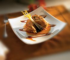 Curry Lobster Spring Rolls – Served with mango citrus coulis and ...