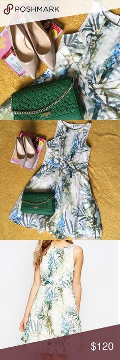 Ted Baker •Ted Baker Ameda Twilight Floral Pleat Dress Sz US 4 •Nine West Natalia Pumps (Not On Sale) •Kate Spade Bag (Not On Sale) Ted Baker Dresses Midi