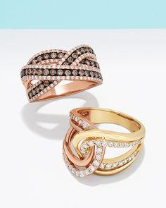 Espresso yourself with shimmering diamond rings in every hue.