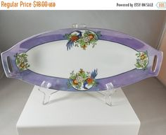 Christmas Sale Noritake Oval Hand Painted by DigginThruTheAttic