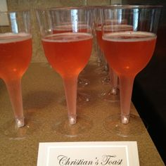Fifty Shades themed party Christian's Toast Pink Champagne