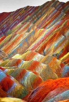 World Heritage Zhangye Danxia geological park China