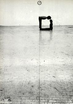 time-space-body and action by klaus rinke, 1972