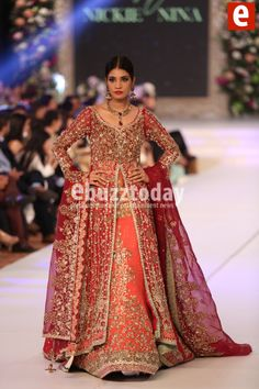 presenting collection on Pakistan bridal week pinned by Latest Bridal Dresses, Pakistani Bridal Dresses, Asian Wedding Dress, Asian Bridal, Wedding Dresses, Pakistan Bridal, Nice Dresses, Dresses For Work, Bollywood Dress