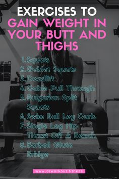 How to Gain Weight in Thighs and Buttocks Fast | Dr Workout