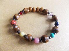 7 Chakras Bracelet (Gemstones, Crystals, Nature Stones, Chakra Balancing, Energy Healing, Yoga, Meditation, Recycled Materials)