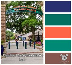 Disney Park Photography - Photo: Downtown Disney Marketplace Colors