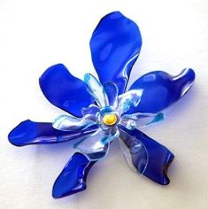 melted plastic bottle flowers