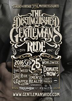 DGR_POSTER_2016  - Manify @ The Distinguished Gentleman's Ride - Doneer! - Manify.nl