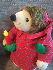 "Russ Berrie Hedgehog Prickles Soft Toy 10"" Christmas"
