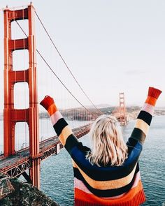 San Fransisco exploring in the cutest rainbow sweater Adventure Awaits, Adventure Travel, Outdoor Pics, Oh The Places You'll Go, Places To Travel, Travel Destinations, Travel Around The World, Around The Worlds, I Want To Travel