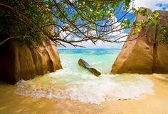 Small Beach La Digue Islands by Alban Henderyckx