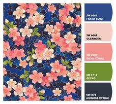 Paint colors from ColorSnap by Sherwin-Williamsj Coral Paint Colors, Paint Color Combos, Paint Color Palettes, Colour Pallette, Colour Schemes, Color Combinations, Color Mixing, Website Color Palette, Inspiration Art