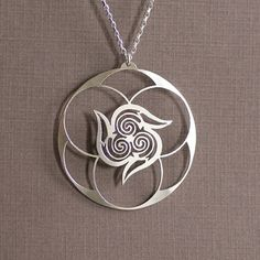 Spiral Vortex - Sterling Silver Hand Cut Pendant, Sacred Geometry, Triple Spiral
