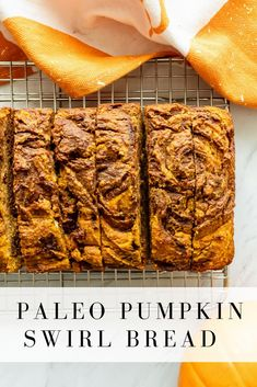 This paleo pumpkin swirl bread screams fall– it's full of fall flavor with a hint of cacao! Sweetened naturally and easy to make, you'll love it all autumn long! Paleo Pumpkin Bread, Pumpkin Spice Syrup, Healthy Pumpkin, Pumpkin Puree, Pumpkin Recipes, Fall Recipes, Sugar Pumpkin, Fun Baking Recipes, Dairy Free Recipes