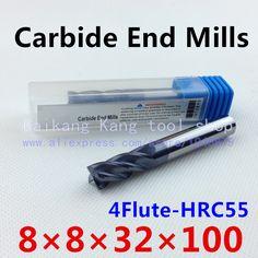 $17.67 (Buy here: https://alitems.com/g/1e8d114494ebda23ff8b16525dc3e8/?i=5&ulp=https%3A%2F%2Fwww.aliexpress.com%2Fitem%2FHead-8mm-CNC-mills-tungsten-steel-cutter-alloy-cutter-engraving-cutters-Cutting-Hardness-55HRC-4F8-8%2F2025536971.html ) New 4 Flute Head:8mm Tungsten steel CNC Milling Cutter Carbide End mills Highest cutting hardness: 55HRC 4F 8*8*32*100mm for just $17.67