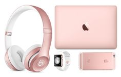 """""""Rose Gold Accessories"""" by melialuker on Polyvore featuring Beats by Dr. Dre"""