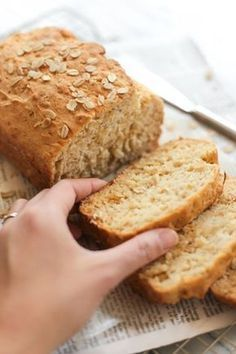 Gluten-free Honey Oat Quick Bread - Dish by Dish - picture for you Spicy Recipes, Mexican Food Recipes, Baking Recipes, Dessert Recipes, Desserts, Oat Flour Recipes, Oatmeal Recipes, Gluten Free Quick Bread, Gluten Free Baking