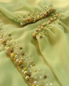 Order contact my WhatsApp number 7874133176 Bead Embroidery Tutorial, Hand Embroidery Videos, Hand Embroidery Dress, Embroidery On Clothes, Couture Embroidery, Embroidered Clothes, Embroidery Fashion, Kurti Embroidery Design, Embroidery Neck Designs
