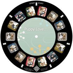 Puppy love on a custom reel!