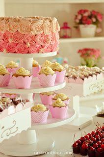 Torre cupcakes - bolo ombré manoelaj@gmail.com