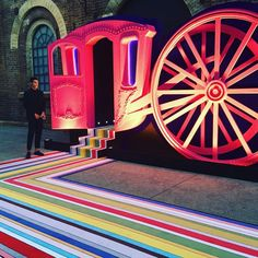 """HERMES, Carriageworks, Eveleigh, Sydney, Australia, """"Please Enter Here"""", for Hermes Crazy Carré / Hermes On The Beach, creative by Red Exhibitions, pinned by Ton van der Veer"""