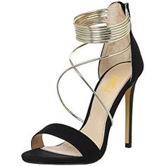 Sexy Cocktail Party Stiletto Heels Open Toe Strappy Sandals Metallic D Ring Shoes Size