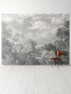 wall mural #trees #black_white