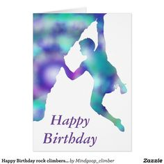 Happy Birthday rock climbers card