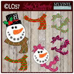 DIGITAL DOWNLOAD ... Snowman Vectors in AI, EPS, GSD, & SVG formats @ My Vinyl Designer #myvinyldesigner #ladychatterly