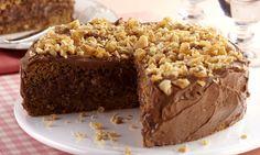 Torta de amendoim, café e chocolate
