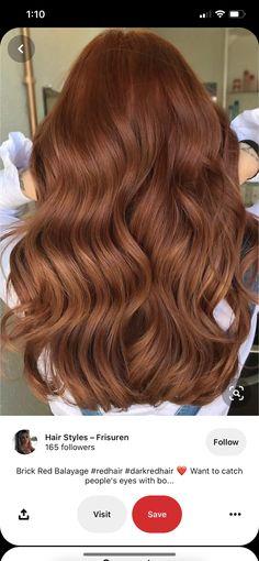Brown To Red Hair, Ginger Brown Hair, Ginger Hair Color, Hair Color And Cut, Light Brown Hair, Brown Hair Colors, Hair Colour, Natural Auburn Hair, Light Auburn Hair