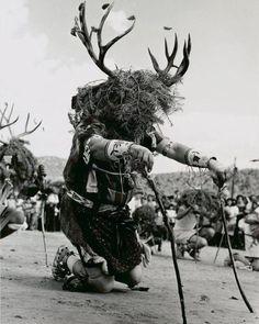 Picuris Deer Dancer in 1969 / Hotel Santa Fe Native American Children, Native American Wisdom, Native American Regalia, Native American Pictures, Native American Artwork, American Indian Art, Native American History, Teen Costumes, Woman Costumes