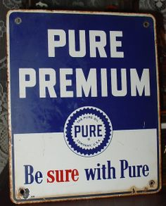 76 PURE SURE NEW PURE OIL GAS STATION SIGN SERVICE NOS OIL CHANGE DECALS 6