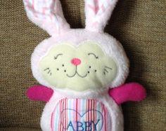 Olive Green Plush Love Bunny by beautifullyregular on Etsy