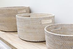 These Whitewash Oval Baskets come in three convenient sizes ideal for storing all your household needs… perfect for the bathroom, living room, bedroom or kitchen! www.rgimports.com.au