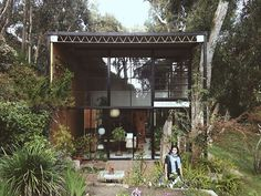 Eames House in Santa Monica, California.